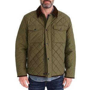J. Crew Sussex Quilted Jacket with Corduroy Collar